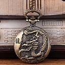 رخيصةأون ساعات الرجال-رجالي ساعة جيب كوارتز فينتاج برونز إبداعي ساعة كاجوال كوول تناظري-رقمي عتيق - برونز