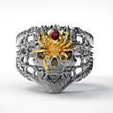 billige Etuier/covers til Huawei-Herre Ring 1pc Guld Sølv Simuleret diamant Legering Anderledes Vintage Punk Trendy Daglig Smykker Vintage Stil Dødningehoved Edderkopper