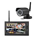 """ieftine CCTV Cameras-wireless 4ch quad dvr 1 camere pal 628x582 ntsc 510x492 cu 7 """"800x480 tft-lcd monitor sistem de securitate pentru casă pal ntsc încorporat în mic"""