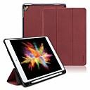 رخيصةأون HTC أغطية / كفرات-غطاء من أجل Apple iPad Air / iPad (2018) / iPad Air 2 ضد الصدمات / مع حامل / قلب غطاء كامل للجسم لون سادة جلد PU