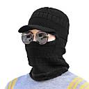 رخيصةأون قبعات الرجال-الشتاء أسود أزرق البحرية رمادي قبعة مترهلة من الخلف قبعة فيدورا قبعة التزلج لون سادة رجالي أكريليك,حفلة عمل أساسي
