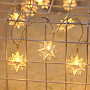 رخيصةأون أضواء شريط LED-2M أضواء سلسلة 20 المصابيح أبيض دافئ / لون متعدد ضد الماء / حزب / ديكور 5 V 1PC
