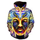 povoljno Muške majice s kapuljačom i trenirke-Muškarci Veći konfekcijski brojevi Ležerne prilike / Ulični šik Hoodie Geometrijski oblici / 3D S kapuljačom