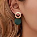 povoljno Naušnice-Žene Naušnica Geometrijski Lopta Naušnice Jewelry Crn / Svjetlo za kavu / Obala Za Praznik 1 par