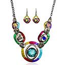 رخيصةأون أطقم المجوهرات-نسائي عقد فينتاج عيون كلاسيكي الأقراط مجوهرات التقزح اللوني من أجل مناسب للحفلات 1SET
