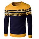 povoljno Muški džemperi i kardigani-Muškarci Prugasti uzorak Dugih rukava Pullover Džemper od džempera, Okrugli izrez Lila-roza / Bijela / Plava US32 / UK32 / EU40 / US34 / UK34 / EU42 / US36 / UK36 / EU44