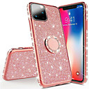voordelige iPhone 6 hoesjes-Strass glitter vinger magnetische ring telefoon case voor iphone 11 pro max / iphone 11 pro / iphone 11 / xs max xr xs x 8 plus 8 7 plus 7 6 plus 6 zachte siliconen plating tpu diamant sexy meisje