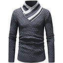 povoljno Muški džemperi i kardigani-Muškarci Prugasti uzorak Dugih rukava Pullover Džemper od džempera, Ruska kragna Sive boje US36 / UK36 / EU44 / US38 / UK38 / EU46 / US40 / UK40 / EU48