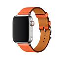 voordelige Apple Watch-bandjes-Horlogeband voor Apple Watch Series 4/3/2/1 Apple Zakelijke band Echt leer Polsband