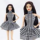 رخيصةأون لعب-دمية اللباس كاجوال إلى Barbie الصوفية الصوف الاصطناعي فستان إلى لفتاة دمية لعبة