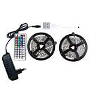 ieftine Benzi Lumină LED-led 12v smd 5050 rgb 10m lumini cu bandă led led bandă multi-culori cu 44keys la distanță 300 leduri benzi nepermeabile cu șofer