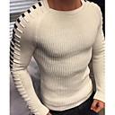povoljno Muški džemperi i kardigani-Muškarci Jednobojni Dugih rukava Pullover Džemper od džempera, Okrugli izrez Crn / Obala / Plava US32 / UK32 / EU40 / US34 / UK34 / EU42 / US36 / UK36 / EU44