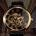 ieftine Ceasuri Bărbați-Bărbați ceas mecanic Mecanism automat Stil Oficial PU piele Negru / Maro 30 m Gravură scobită Iluminat Analog Lux Modă Schelet - Negru Negru / Alb Auriu+Negru / Oțel inoxidabil