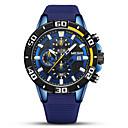 رخيصةأون ساعات الرجال-MEGIR رجالي ساعة رياضية كوارتز رياضي سيليكون أسود / أزرق 30 m رزنامه ساعة التوقف قضية مماثل موضة - أسود أزرق سنة واحدة عمر البطارية