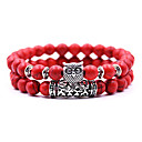 ieftine Baze WIFI-2pcs Pentru femei Brățări cu Mărgele Yoga brățară Bratara de cristal Ștrasuri Bufniţă Boem Cute Stil Stilul Folk Piatră Bijuterii brățară Negru / Galben / Rosu Pentru Zilnic
