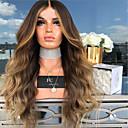 ieftine Peruci & Extensii de Păr-Peruci Sintetice Stil Ondulat Partea centrală Perucă Auriu Lung înălbitor Blonde Păr Sintetic 26 inch Pentru femei Dame Auriu