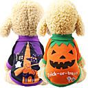 رخيصةأون ملابس وإكسسوارات الكلاب-كلاب كنزة ملابس الكلاب أرجواني برتقالي الهالووين كوستيوم كلب البج بودل شيواوا قطن قرع الكوسبلاي S M L XL