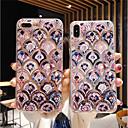 economico Custodie per iPhone X-Custodia Per Apple iPhone 11 / iPhone 11 Pro / iPhone 11 Pro Max Resistente agli urti / Glitterato Per retro Fiore decorativo / Effetto marmo TPU