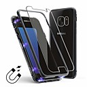 voordelige Galaxy S7 Edge Hoesjes / covers-hoesje voor samsung galaxy s7 edge transparant / back-up achterkant transparant gehard glas