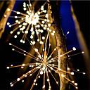 povoljno LED žarulje s nitima-vodootporan 40 grana 200led solarne energije viseće zvijezde svjetla vodio vatromet svjetiljka led metla bakrena žica topla bijela fenjera kreativni party zabava ukras