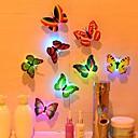 povoljno LED svjetla u traci-luz de noche led cambio de mariposa colorido pasillo luces de noche botón con pilas para fiesta dormitorio cocina baño cubierta 5 piezas