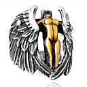 رخيصةأون خواتم-رجالي خاتم 1PC فضي سبيكة غير منتظم عتيق شائع عرقي مناسب للبس اليومي مجوهرات فينتاج صليب أجنحة الملاك