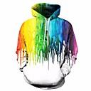 povoljno Muške majice s kapuljačom i trenirke-Muškarci Sport Ležerne prilike / Božić Hoodie Print / Color block / 3D S kapuljačom