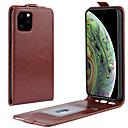 voordelige iPhone X hoesjes-hoesje Voor Apple iPhone 11 / iPhone 11 Pro / iPhone 11 Pro Max Kaarthouder / Flip Volledig hoesje Effen PU-nahka