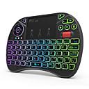 رخيصةأون لوحات المفاتيح-Rii X8+ 2.4GHz اللاسلكية الهواء ماوس ميني لوحة المفاتيح ميني مع لوحة اللمس موضوع لون الخلفية 71 pcs مفاتيح