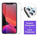 voordelige iPhone 11 Pro screenprotectors-glazen schermbeschermer en lensbeschermfolie voor iPhone 11/11 pro / 11 pro max / xs max / xr / xs / x / 8plus / 8 / 7plus / 7/6 plus / 6