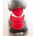رخيصةأون ملابس وإكسسوارات الكلاب-قط كلب المعاطف هوديس ملابس الشتاء ملابس الكلاب برتقالي أخضر أحمر كوستيوم قطن ألوان متناوبة الدفء ضد الرياح الرياضات XS S M L XL XXL