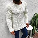 abordables Pulls & Cardigans pour Homme-Homme Couleur Pleine Manches Longues Taille EU / US Pullover Pull pull, Col Arrondi Noir / Blanche / Vert Véronèse US32 / UK32 / EU40 / US34 / UK34 / EU42 / US36 / UK36 / EU44