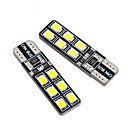 voordelige Autobinnenverlichting-2 ST T10 LED W5W Canbus Lights 194 12SMD 2835 Led-lampen Auto Foutloze Led-verlichting Parking Auto Side Light Clear Lamp 12V