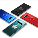 رخيصةأون حافظات / جرابات هواتف جالكسي S-غطاء من أجل Samsung Galaxy Galaxy S10 Plus ضد الصدمات / حامل الخاتم غطاء خلفي لون سادة TPU