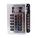 voordelige Auto DVR's-12V 32V plastic deksel zekeringkasthouder M5 Stud met LED-indicatielampje 6 manieren 12 manieren mes voor auto