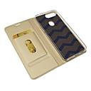 رخيصةأون أغطية-غطاء من أجل OPPO ممن لهم A5 حامل البطاقات / مغناطيس / النوم / الإيقاظ التلقائي غطاء كامل للجسم لون سادة جلد PU / TPU
