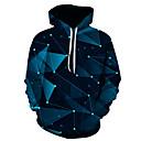 povoljno Muške majice s kapuljačom i trenirke-Muškarci Veći konfekcijski brojevi Osnovni Hoodie 3D S kapuljačom