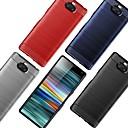 olcso Sony tokok-Case Kompatibilitás Sony Sony XA2 Plus / Sony Xperia L3 / Sony Xperia 10 Ütésálló / Ultra-vékeny Fekete tok Egyszínű / Vonalak / hullámok TPU / Szénrost