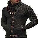tanie Męskie koszule-Męskie Solidne kolory Długi rękaw Pulower Sweter sweter, Golf Czarny / Biały / Królewski błękit US32 / UK32 / EU40 / US34 / UK34 / EU42 / US36 / UK36 / EU44