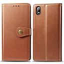 voordelige iPhone-hoesjes-hoesje Voor Huawei Huawei P20 lite / Huawei P30 / Huawei P30 Pro Kaarthouder / Magnetisch / Auto Slapen / Ontwaken Volledig hoesje Effen PU-nahka / PC