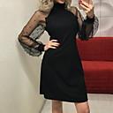 رخيصةأون ملصقات ديكور-فستان نسائي ثوب ضيق دانتيل فوق الركبة لون سادة