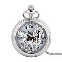 رخيصةأون ساعات الرجال-رجالي ساعة جيب كوارتز فينتاج فضة إبداعي تصميم جديد ساعة كاجوال تناظري-رقمي عتيق - فضي