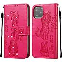 voordelige iPhone 5 hoesjes-hoesje Voor Apple iPhone 11 / iPhone 11 Pro / iPhone 11 Pro Max Portemonnee / Kaarthouder / Schokbestendig Volledig hoesje Effen PU-nahka / TPU