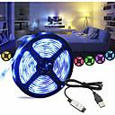 povoljno LED svjetla u traci-1m Savitljive LED trake 30 LED diode SMD5050 RGB USB / Ukrasno / Samoljepljiva USB napajanje 1set