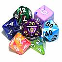 olcso Dice és Chips-Dungeons and Dragons játék 15-20mm d4 d6 d8 d10 d12 d20 kocka színes random (6pcs/set)