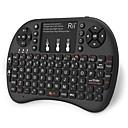 olcso Billentyűzetek-Rii K08+ Vezeték nélküli 2,4 GHz-es Air Mouse Minii billentyűzet Mini érintőpaddal Fehér háttérvilágítás 72 pcs Kulcsok