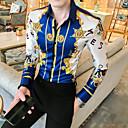 povoljno Muške jakne-Majica Muškarci Dnevno Geometrijski oblici Plava