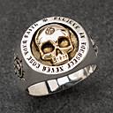 preiswerte Ringe Herren-Herrn Ring 1pc Silber Aleación Unregelmässig Retro Modisch Ethnisch Alltag Schmuck Vintage Stil Sonne Totenkopf