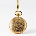 رخيصةأون ساعات الرجال-رجالي ساعة جيب كوارتز فينتاج ذهبي إبداعي تصميم جديد ساعة كاجوال تناظري-رقمي عتيق - ذهبي