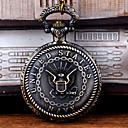 رخيصةأون ساعات الرجال-رجالي ساعة جيب كوارتز فينتاج برونز إبداعي تصميم جديد كوول تناظري-رقمي عتيق - برونز